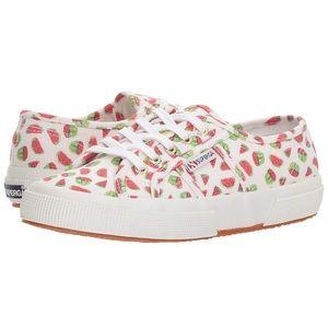 Superga watermelon linen shoes. 37.5 (US size 7)